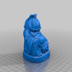 81c63f6ebb979f7261c6d6555db937ff.png Download free STL file Garfield Buddha • Template to 3D print, Fisk400
