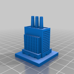 20200905.png Download free STL file GreebleCity: Tall Factory • 3D print template, Fisk400