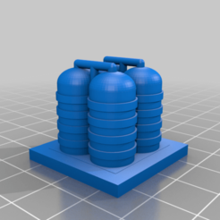 Download free STL file GreebleCity: Gas Storage • 3D printable template, Fisk400