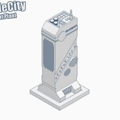 Imprimir en 3D gratis GreebleCityBits: Planta de tratamiento de aire, Fisk400