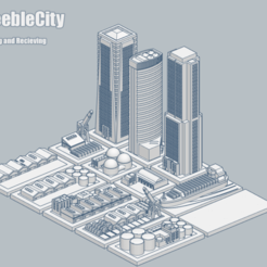 GreebleCity03Shipping.png Download free STL file GreebleCity Set 03: Shipping and Receiving • 3D print design, Fisk400