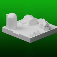 Download free 3D printing models GreebleCity Farms: Farmhouse, Fisk400