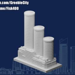 20201030.png Télécharger fichier STL gratuit GreebleCity : Centre financier alias trois sages. • Design pour imprimante 3D, Fisk400