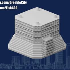 Descargar Modelos 3D para imprimir gratis GreebleCity Cyberpunk: Módulo Flaired, Fisk400