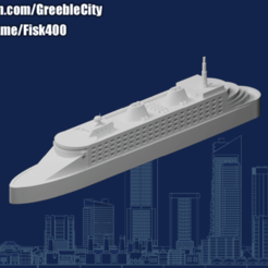 20200827.png Download free STL file GreebleCity: Cruise Liner • 3D print template, Fisk400