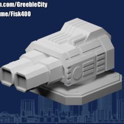 20201014.png Télécharger fichier STL gratuit GreebleCity Cyberpunk : Railgun • Objet imprimable en 3D, Fisk400