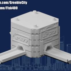 20200914.png Download free STL file GreebleCity Cyberpunk: Modular Road network L • 3D printer object, Fisk400