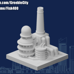 20200930.png Download free STL file GreebleCity: Oil Refinery • 3D printable template, Fisk400