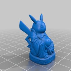 Descargar diseños 3D gratis Buda Pikachu, Fisk400
