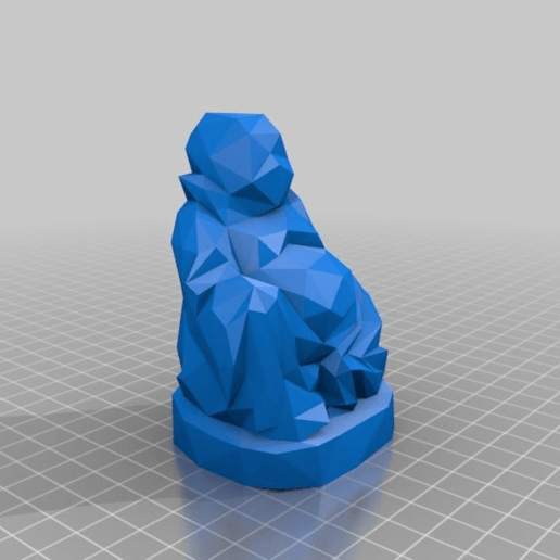 Download free 3D printer model Low Poly Buddha, Fisk400