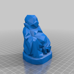 Download free 3D printer model Low Poly Buddha, Fisk400