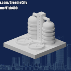 Download free 3D printer designs GreebleCity Industry: Water treatment plant, Fisk400