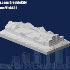 Download free STL file GreebleCity Ruins: Neighbourhood II (Buy my book... I mean Patreon!), Fisk400