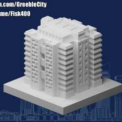20201203.jpg Télécharger fichier STL gratuit Greeblecity : Bloc d'habitation D • Plan à imprimer en 3D, Fisk400