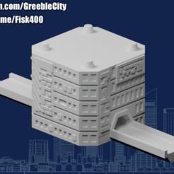 20200916.png Download free STL file GreebleCity Cyberpunk: Modular Road Network I • 3D printer model, Fisk400