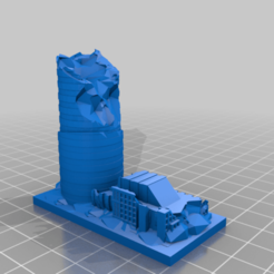 Descargar STL gratis Ruinas de GreebleCity: Rascacielos XVII, Fisk400