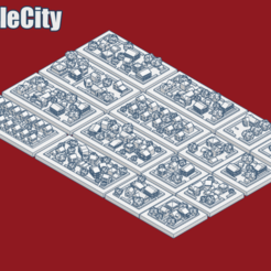 GreebleCoverSuburbia.png Download free STL file GreebleCity Set 08: Suburbia • 3D print template, Fisk400