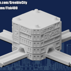 20200922.png Download free STL file GreebleCity Cyberpunk: Modular Tower Cross Road • 3D printable template, Fisk400