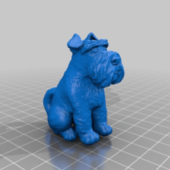 Download free STL file Schnauzer with tail, Fisk400