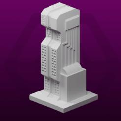 ServerBuilding.png Télécharger fichier STL gratuit GreebleCity Cyberpunk : bâtiment des serveurs • Objet à imprimer en 3D, Fisk400