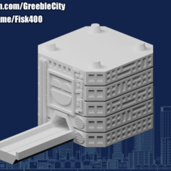 20200906.png Download free STL file GreebleCity Cyberpunk: Road Module • 3D printable design, Fisk400