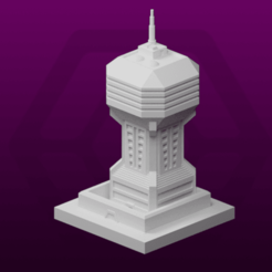 Watchtowe.png Télécharger fichier STL gratuit GreebleCity Cyberpunk : Watchtower • Design pour impression 3D, Fisk400