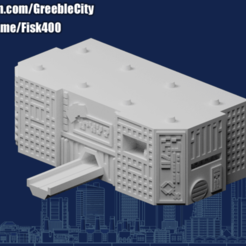 20200910.png Download free STL file GreebleCity Cyberpunk: Megatower 16 Module • 3D printing template, Fisk400