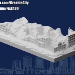 20201006.png Télécharger fichier STL gratuit Ruines de GreebleCity : Dommages collatéraux • Modèle pour impression 3D, Fisk400