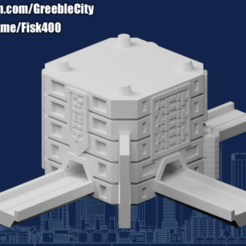 20200918.png Download free STL file GreebleCity Cyberpunk: Modular Road Network T • 3D printing template, Fisk400