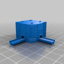20201225.png Télécharger fichier STL gratuit GreebleCity Megatower 16 : route L • Design imprimable en 3D, Fisk400