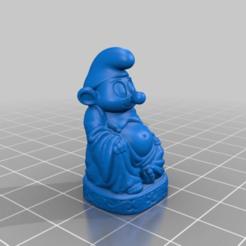 bbb36f32668ea028858edd01ec998e86.png Download free STL file Smurf Buddha • 3D printer model, Fisk400