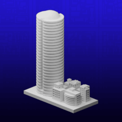 Download free 3D printer designs GreebleCity: Office Building, Fisk400