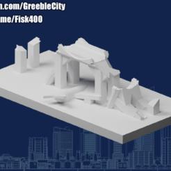 20201008.png Download free STL file GreebleCity Ruins: Ruined Bridge • 3D print template, Fisk400