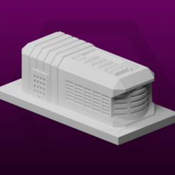 Descargar modelo 3D gratis GreebleCity Cyberpunk: Construcción de tecnología, Fisk400