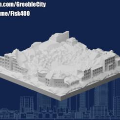 20201004.png Download free STL file GreebleCity Ruins: Crater • 3D printable model, Fisk400