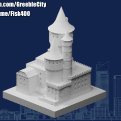 20201001.png Download free STL file GreebleCity: Spooky Castle • Template to 3D print, Fisk400