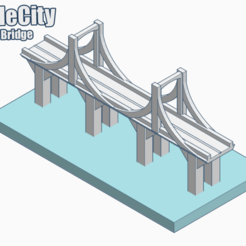Descargar STL gratis GreebleCity: Puente colgante, Fisk400