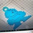 Download 3D print files Megaman 8-bit keychain, frikoolcristal