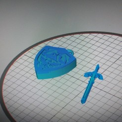Download 3D print files Hylian Shield and Master Sword Zelda, frikoolcristal