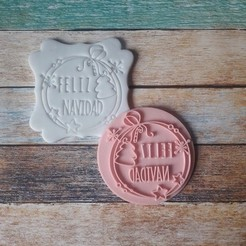 SFF0-002.jpg Download free STL file Merry Christmas stamp 02 • 3D printing template, quinteroslg
