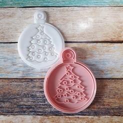 CSBN-010.jpg Télécharger fichier STL Coupeur et timbre de Noël - Coupeur et timbre boules de Noël 10 • Design imprimable en 3D, quinteroslg