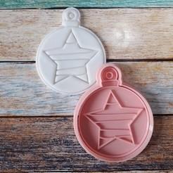CSBN-002.jpg Télécharger fichier STL Coupeur et timbre de Noël - Coupeur et timbre boules de Noël 02 • Design à imprimer en 3D, quinteroslg