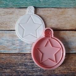 CSBN-001.jpg Télécharger fichier STL gratuit Coupeur et timbre de Noël - Coupeur et timbre boules de Noël 01 • Design imprimable en 3D, quinteroslg