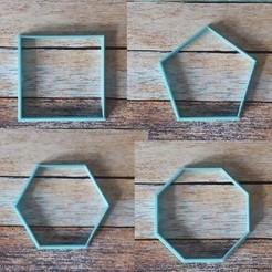 U01.jpg Télécharger fichier STL Formes géométriques des coupe-biscuits - Couteaux géométriques 01 • Modèle à imprimer en 3D, quinteroslg