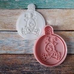 CSBN-005.jpg Télécharger fichier STL gratuit Coupeur et timbre de Noël - Coupeur et timbre boules de Noël 05 • Plan imprimable en 3D, quinteroslg
