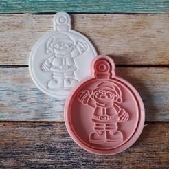 CSBN-006.jpg Télécharger fichier STL Coupeur et timbre de Noël - Coupeur et timbre boules de Noël 06 • Plan à imprimer en 3D, quinteroslg