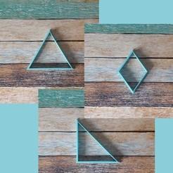 U03.jpg Télécharger fichier STL Coupeur de formes géométriques en forme de cookie - Coupeur géométrique 02 • Design imprimable en 3D, quinteroslg