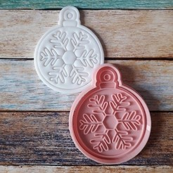 CSBN-008.jpg Télécharger fichier STL Coupeur et timbre de Noël - Coupeur et timbre boules de Noël 08 • Objet pour imprimante 3D, quinteroslg
