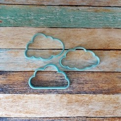 104.jpg Télécharger fichier STL Cookie Cutter kit nuage - Set de découpe de nuages • Modèle à imprimer en 3D, quinteroslg