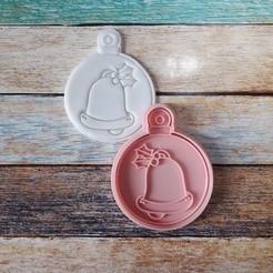 CSBN-009.jpg Télécharger fichier STL Coupeur et timbre de Noël - Coupeur et timbre boules de Noël 09 • Objet imprimable en 3D, quinteroslg
